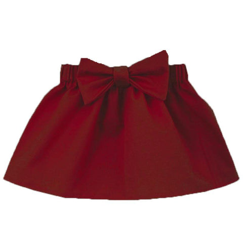 Burgandy Skirt Bow