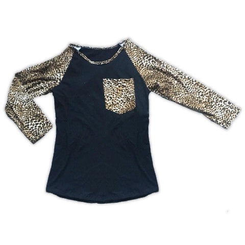 Cheetah Black Reglan Mommy Shirt