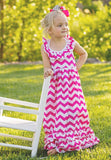 Chevron Ruffle Dress