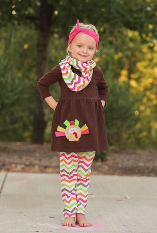 Chevron Turkey Infinity Scarf Set