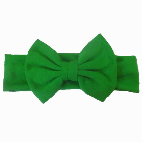 Christmas Green Headband Messy Bow
