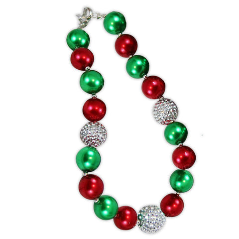Christmas Green Red Necklace