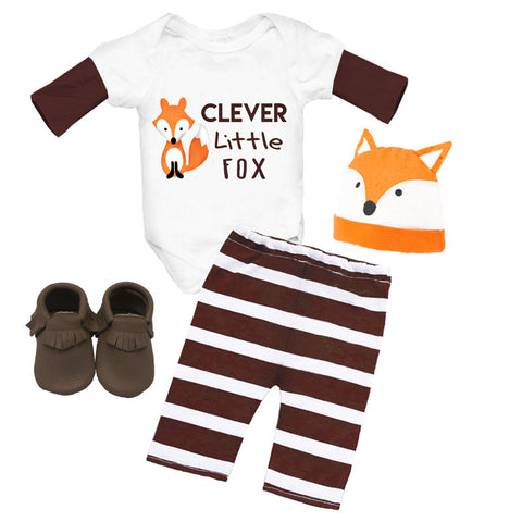 Clever Little Fox Onesie And Pants