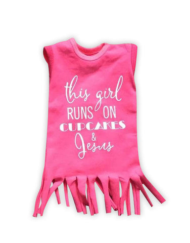 Cupcakes Jesus Fringe Baby Doll Dress