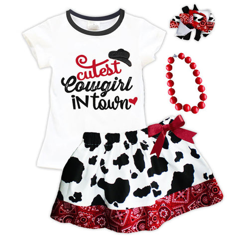 Cutest Cowgirl In Town Top And Skirt