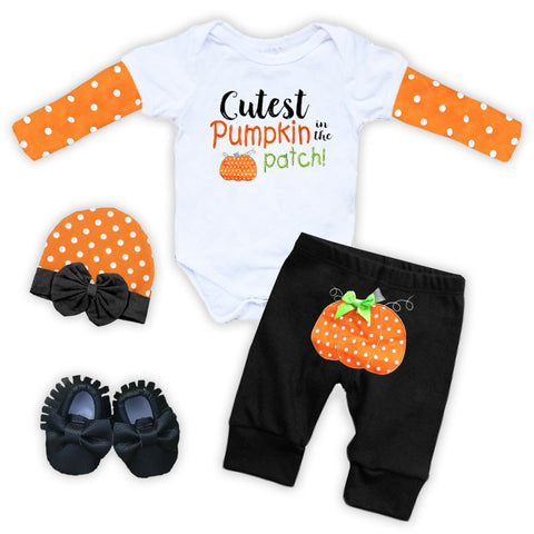 Cutest Pumpkin In The Patch Onesie Pant Set