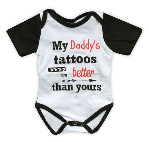Daddys Tattoos Boy Onesie