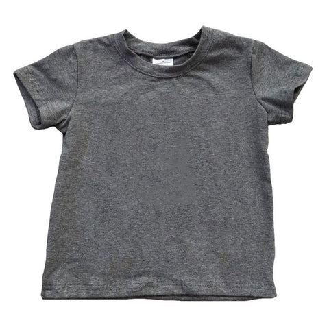 Dark Heather Gray Shirt Short Sleeve Boy