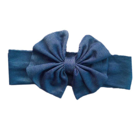 Denim Messy Bow Headband