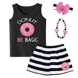 Donut Be Basic Tank Top Black Pink