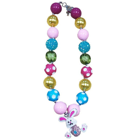 Easter Bunny Pendent Necklace Chunky Gumball
