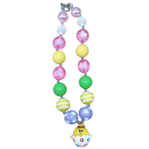 Easter Egg Chick Necklace Chunky Gumball