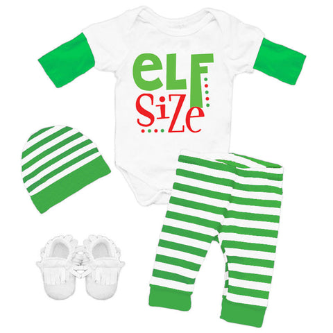 Elf Size Stripe Onesie And Pants