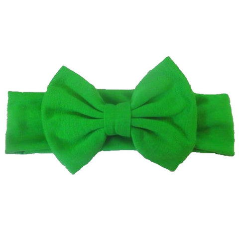 Emerald Green Headband Messy Bow