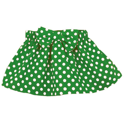 Emerald Green Skirt Polka Dot Bow