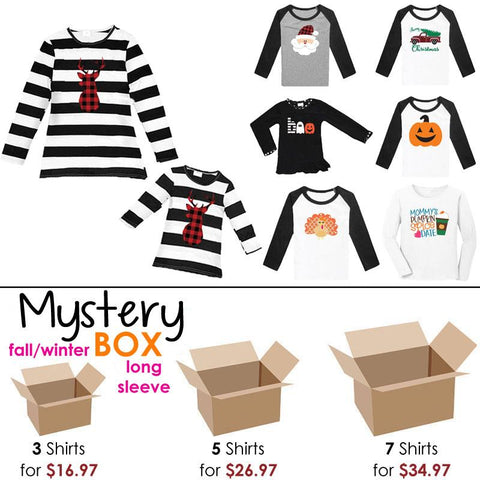 Fall Winter Mystery Box Shirts Long Sleeve