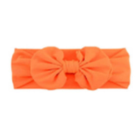 Fluorescent Orange Ruffle Bow Headband