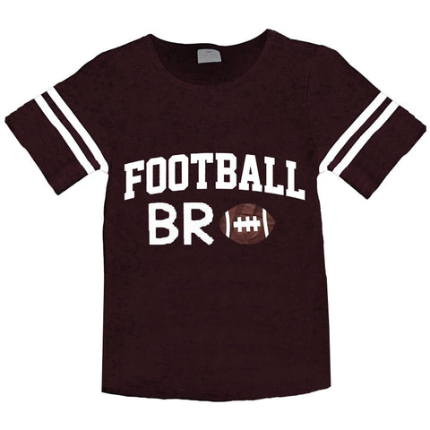 Football Bro Shirt Boys Brown Stripe