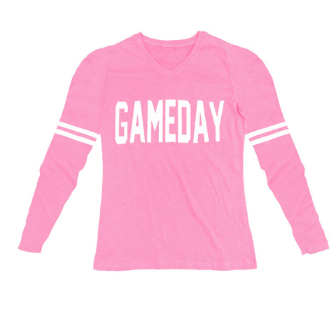 Football Gameday Shirt Mom Pink Stripe
