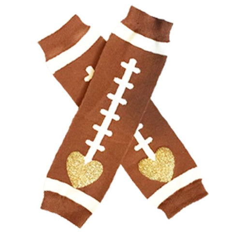 Football Leg Warmers Gold Heart