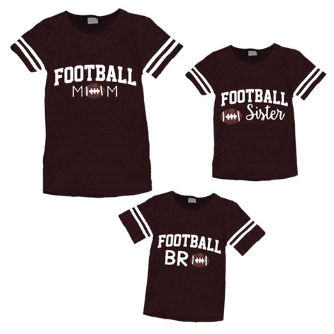 124e3612 Football Mom Shirt Womens Brown Stripe – Upon A Bowtique