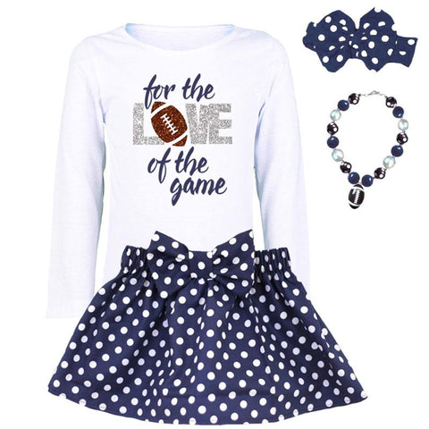 For The Love Of The Game Shirt Navy Silver
