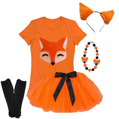 Fox Tutu Costume Sparkle Orange
