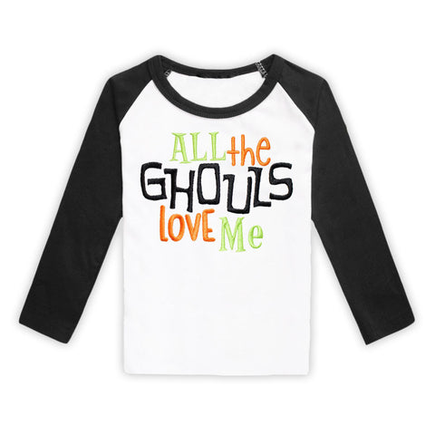 Ghouls Love Me Black Reglan Boy Shirt