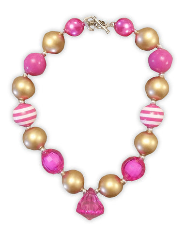 Gold Bubblegum Diamond Necklace