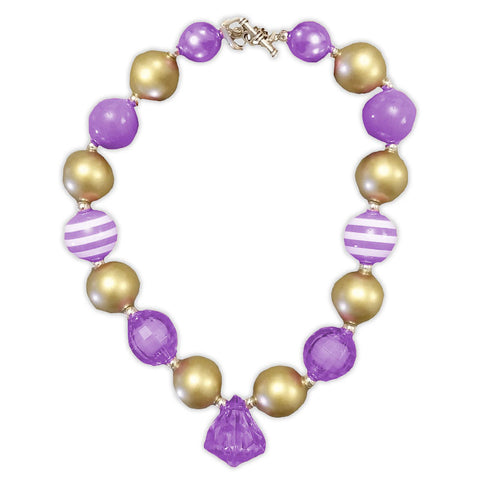 Gold Purple Diamond Necklace