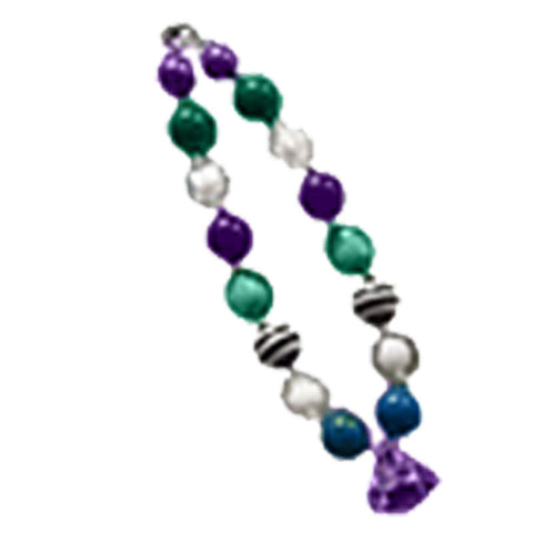 Green Blue Purple Diamond Necklace
