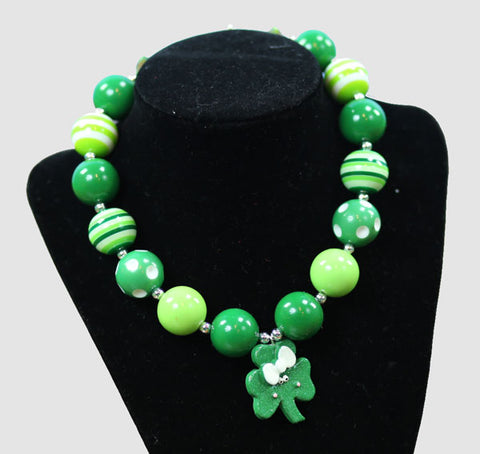 Shamrock Green Gumball Necklace
