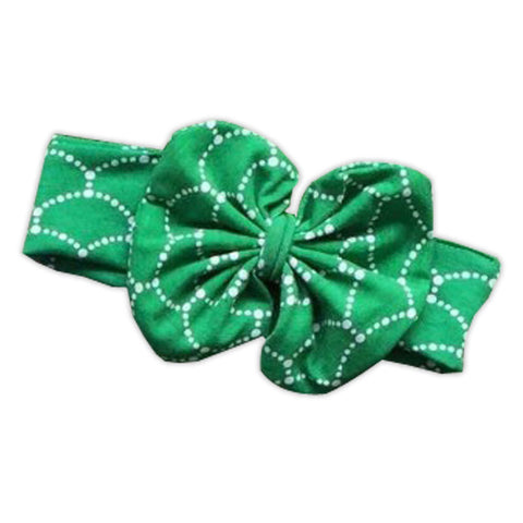 Green Mermaid Messy Bow Headband