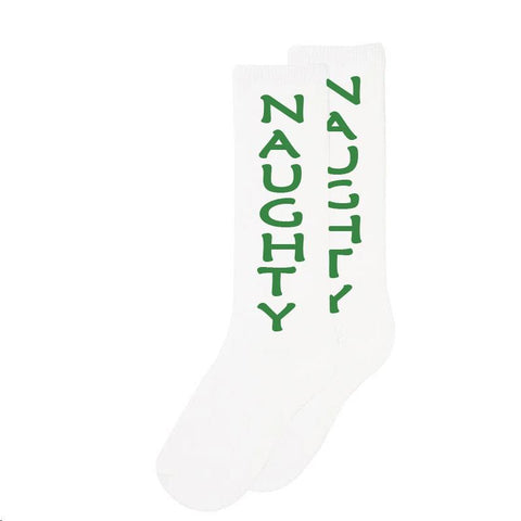 Green Naughty Long Socks