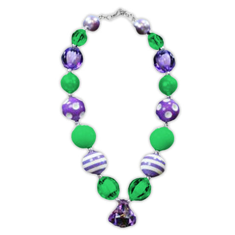 Green Purple Diamond Necklace