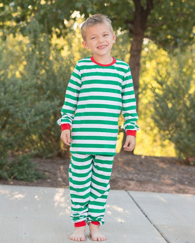 Green Stripe Pajamas