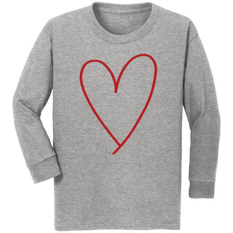 Heather Gray Heart Shirt Mommy Me Boy