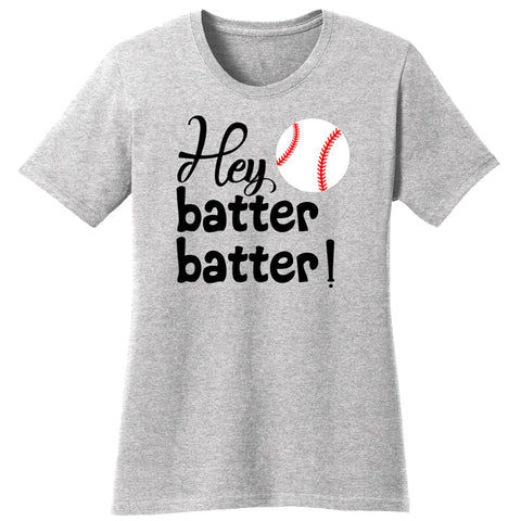 Hey Batter Batter Baseball Shirt Heather Gray