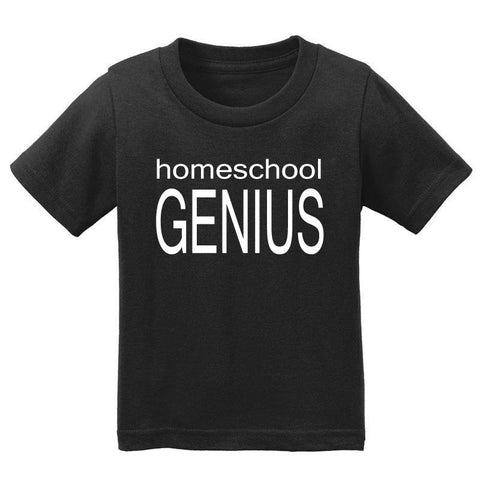 Homeschool Genius Shirt Black Boy