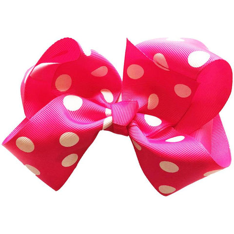 Hot Pink Knot Bow Polka Dot