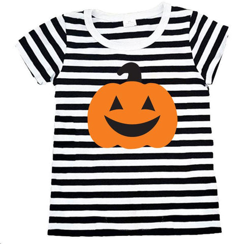 Jackolantern Black Stripe Shirt Orange