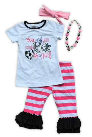 Kick Like A Girl Capri Set