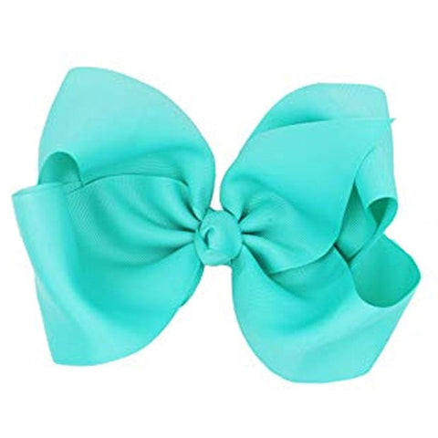 Knot Hair Bow Teal Blue