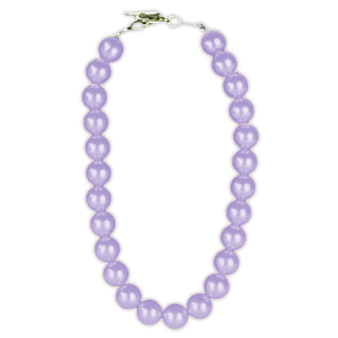 Lavender Purple Pearl Necklace