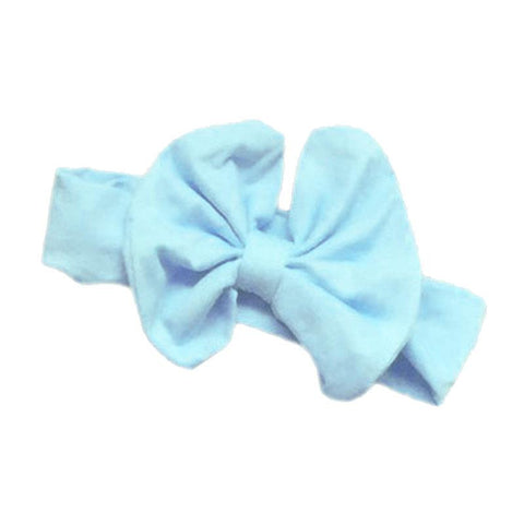 Light Blue Messy Bow Headband