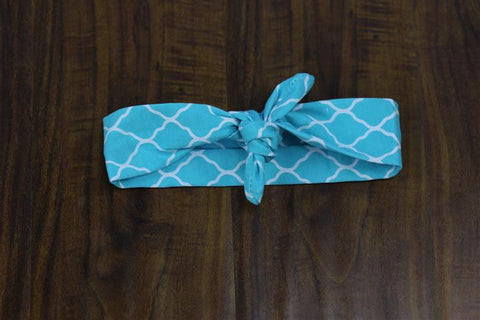 Light Blue Moroccan Head Wrap