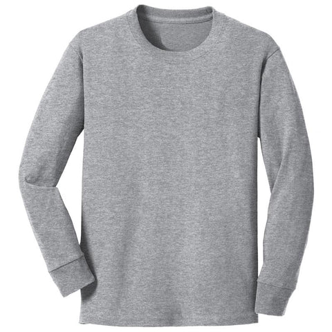 Light Heather Gray Shirt Long Sleeve