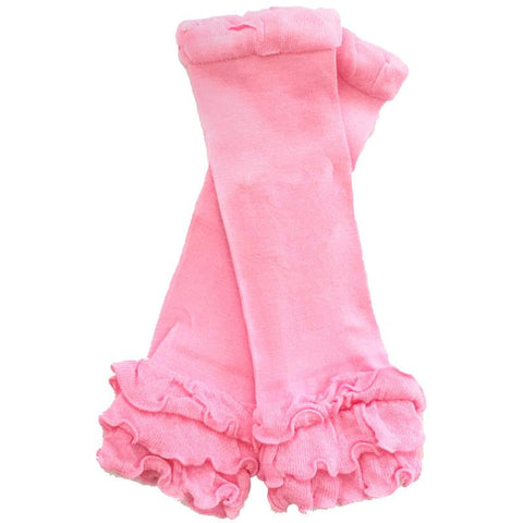 Light Pink Leg Warmers Ruffle