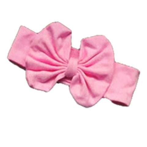 Light Pink Messy Bow Headband
