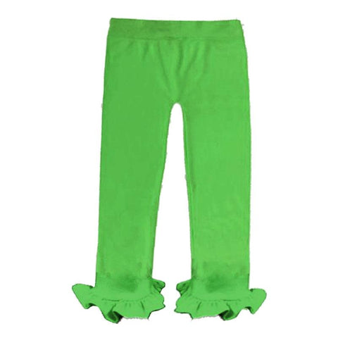 Lime Green Pants Ruffle